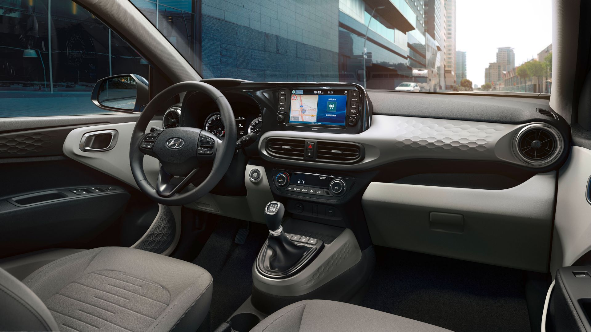 Photo of the interior of the all-new Hyundai i10.