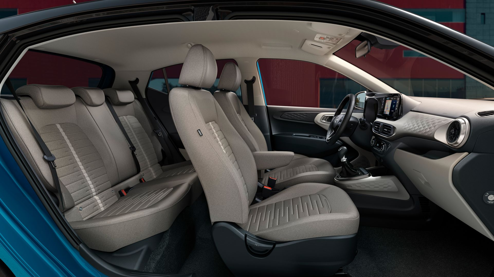 Image of the seats of the all-new Hyundai i10.