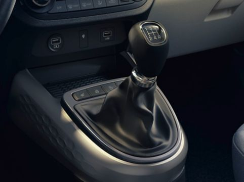 The image of the manual transmission in the all-new Hyundai i10.