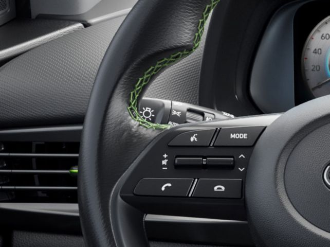The eCall-button in the all-new Hyundai i20