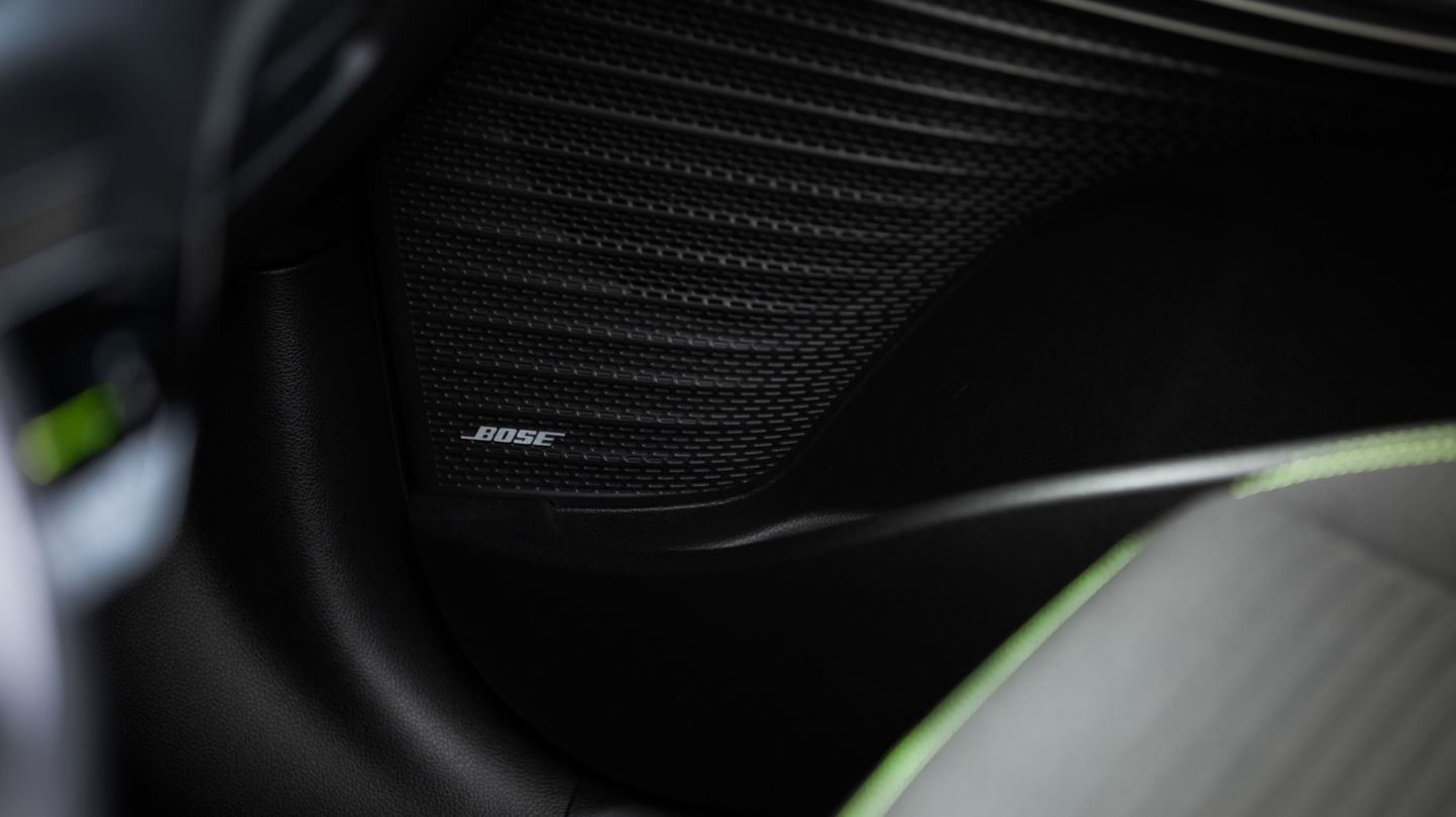 Close-up of a speaker belonging to the all-new Hyundai i20's Bose sound system