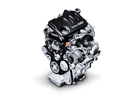 Detail image of a Hyundai Turbo GDi petrol engine