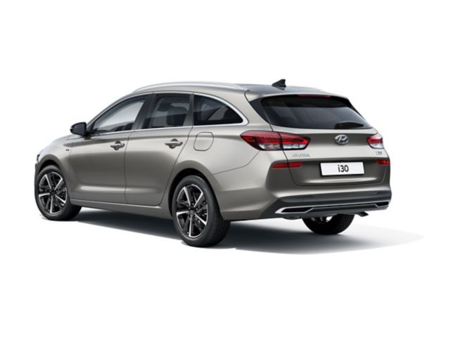 The new Hyundai i30 Wagon pictured from the driver side rear.
