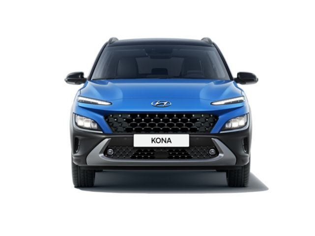 Front view of the new Hyundai Kona with its robust SUV signature and unique style.