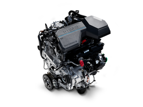 An image of the 1.6 T-GDI turbo hybrid engine in the new Hyundai Santa Fe plug-in hybrid.