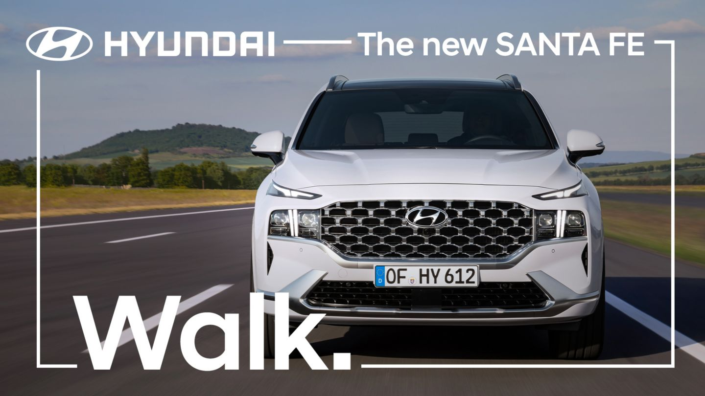 A video that shows the bold exterior design highlights of the new Hyundai Santa Fe SUV.