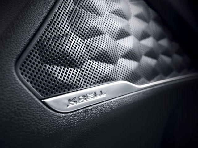 An image of the KRELL premium audio speaker in the new Hyundai Santa Fe SUV.