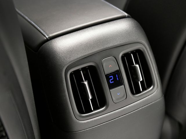 A close up image of the rear passenger climate controls inside the all-new Hyundai Tucson SUV.